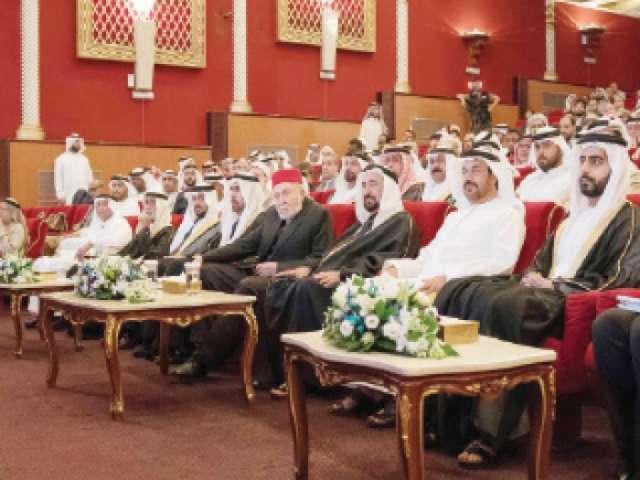 سلطان القاسمي يشهد انطلاق فعاليات مهرجان الشارقة للشعر العربي