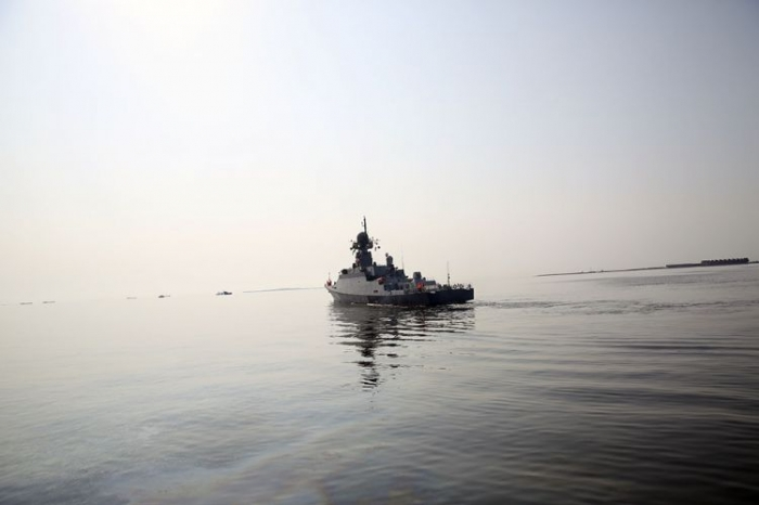 Friendly visit by Russian military ships to Azerbaijan ended - VIDEO