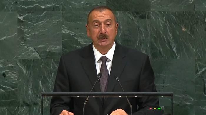 Ilham Aliyev s'adresse à l'ONU - VIDEO