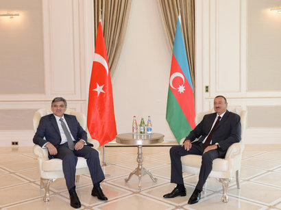 Azerbaijani President meets Turkish counterpart in Gabala