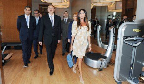 İlham Əliyev otelin açılışında - FOTOLAR