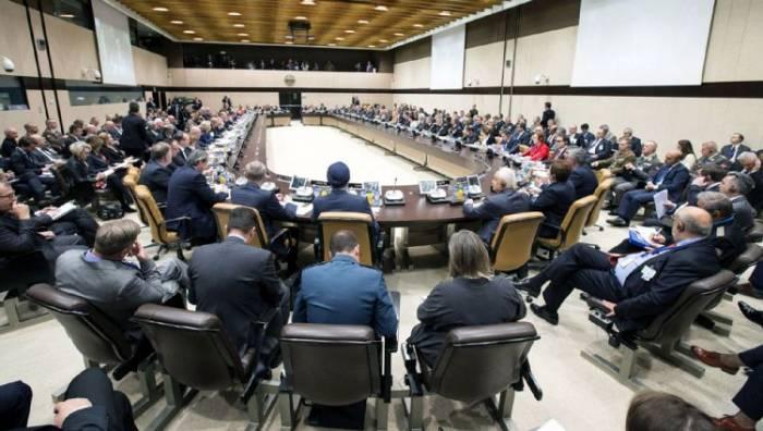 Zakir Həsənov NATO toplantısında çıxış edib