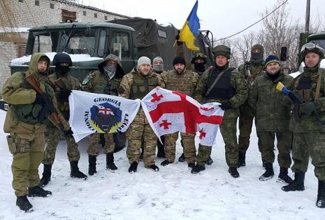 Georgia fights against Russia in Ukraine
