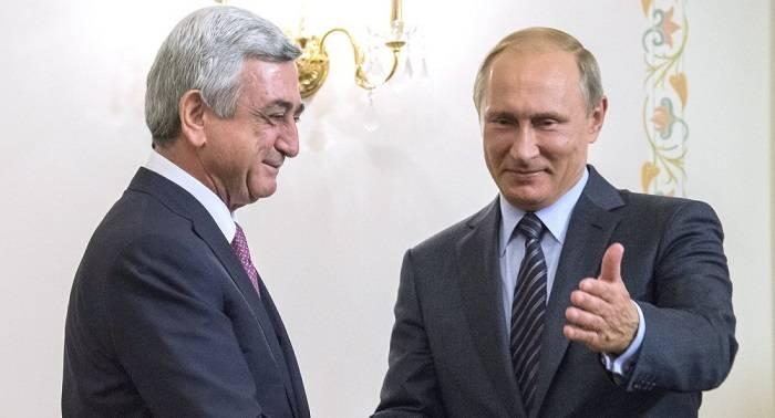 Sarkisyan artıq Moskvadadır, Putinlə görüş olacaq