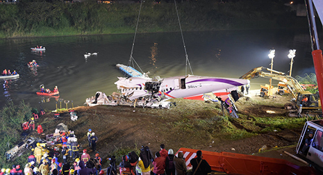 Bodies of Two Pilots From Crashed TransAsia Plane Recovered