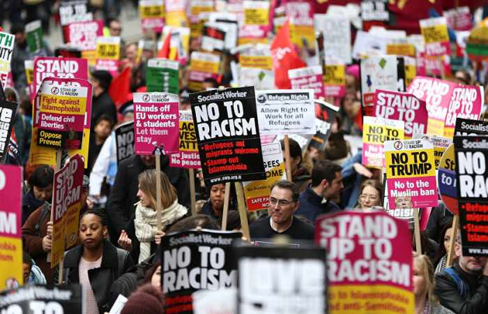 About 30,000 take part in London march against racism, discrimination in UK, US