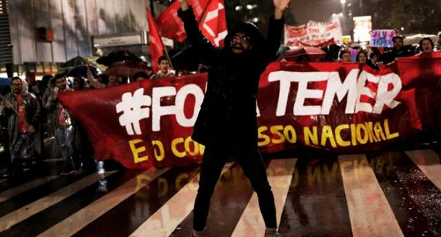 Thousands of Brazilians rally against President Temer