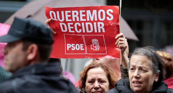 Los militantes del PSOE elegirán el 21 de mayo a su nuevo secretario general