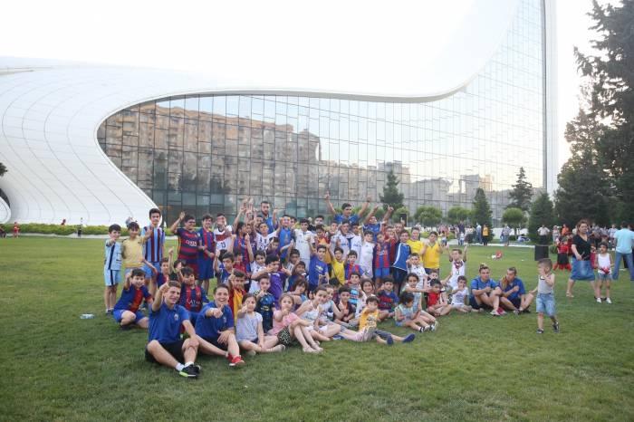 Uşaqlar arasında futbol turniri keçirilib - Fotolar