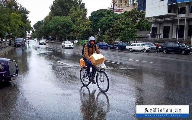 Bakının yağışdan sonrakı mənzərəsi - FOTOLAR