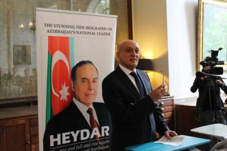 Heydar Aliyev`s English-language biography presented in London