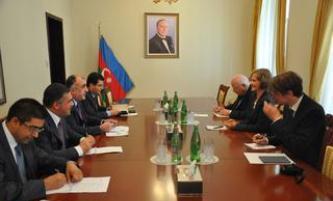 Azerbaijani FM receives incoming German Ambassador