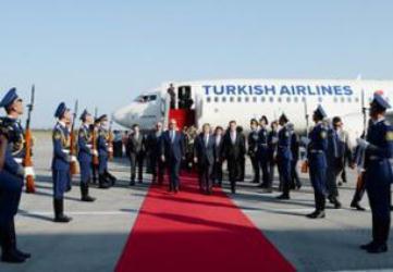 Turkish president arrives in Azerbaijan