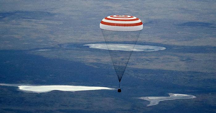 Sojus-Kapsel mit drei Raumfahrern wieder gut zurück auf der Erde - KEINE KOMMENTARE