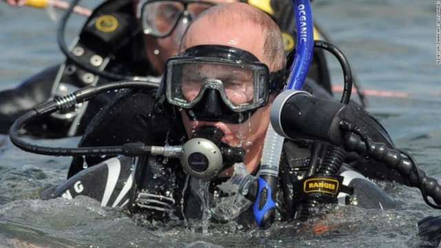 Vladimir Putin goes fishing and warns of high pollution levels in Russia's Lake Baikal - VIDEO