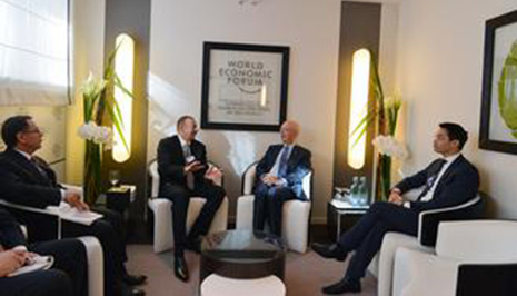 Ilham Aliyev meets Executive Chairman of World Economic Forum