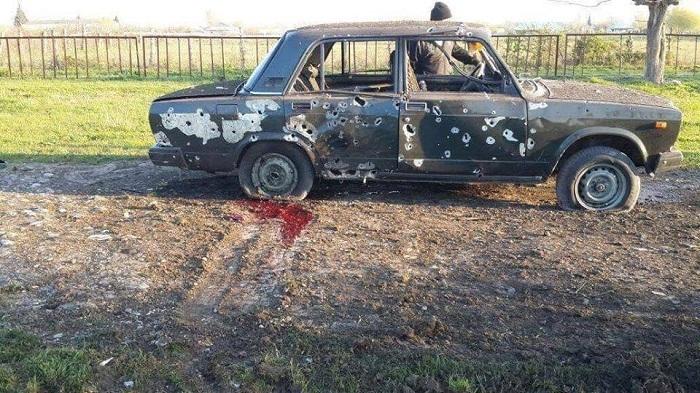 Das von den Armeniern gefeuerte Auto- FOTO/VIDEO
