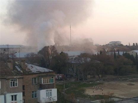 Sumqayıtda məktəb yandı – FOTO, VİDEO
