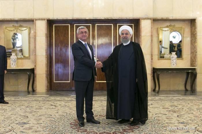 Rouhani sagt  zu Sarsgyan: ''Karabach Konflikt kann nur mit politischen Mitteln gelöst werden''