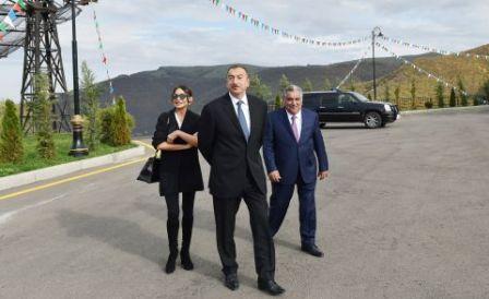 Prezident və xanımı Daşkəsəndə - YENİLƏNİB