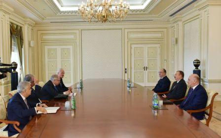 Prezident Avropa Məhkəməsinin sədri ilə görüşdü