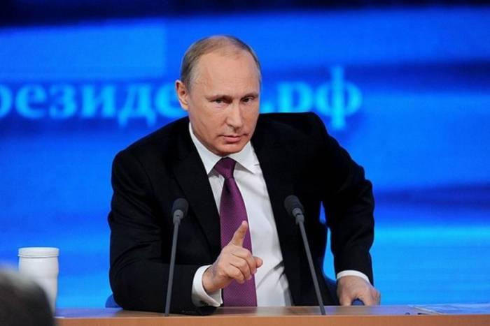 Putin illik mətbuat konfransı keçirir -