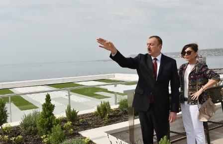 """Prezident və xanımı """"Bulvar Hotel""""in açılışında - Fotolar"""