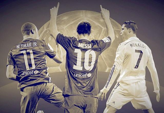 `Qızıl top`a namizədlər: Messi, Ronaldo, Neymar