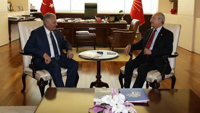 PM Yıldırım meets with leaders of Turkey`s main political parties
