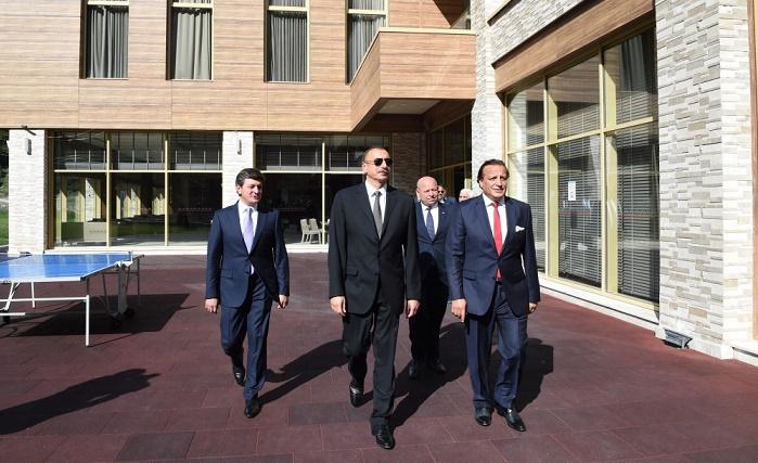 Azerbaijani President attends several openings in Gabala - PHOTOS