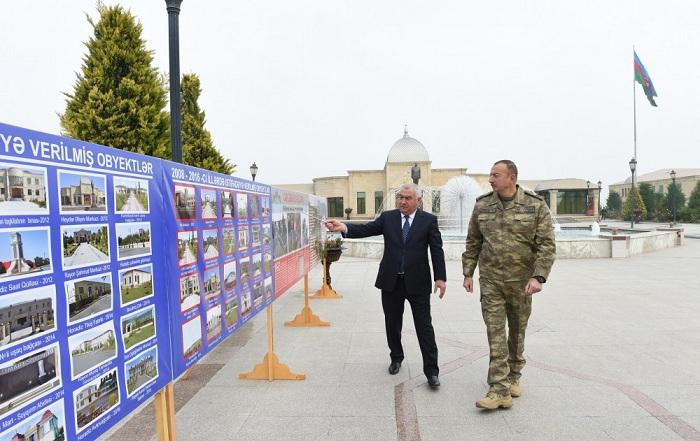 President Ilham Aliyev visit Fuzuli district, attend openings - PHOTOS, UPDATED