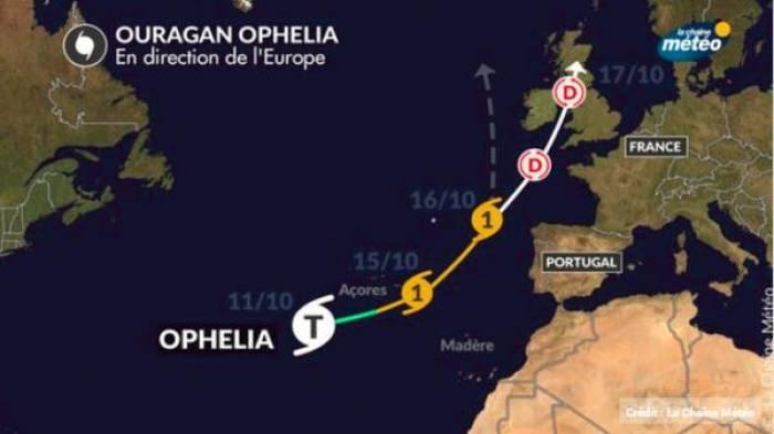 L'ouragan Ophélia se dirige vers l'Europe