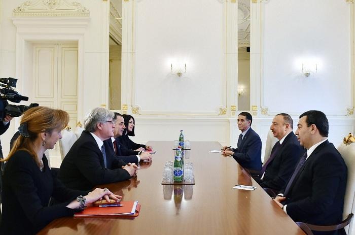 Le président azerbaïdjanais reçoit les co-rapporteurs de la Commission de suivi de l'APCE