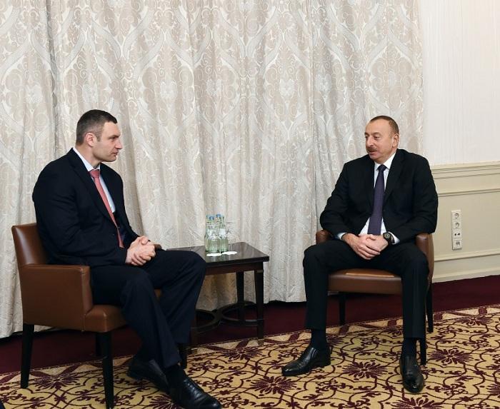 Azerbaijani president holds meetings in Munich - PHOTOS
