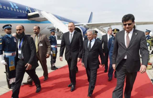 President Ilham Aliyev arrives in Pakistan