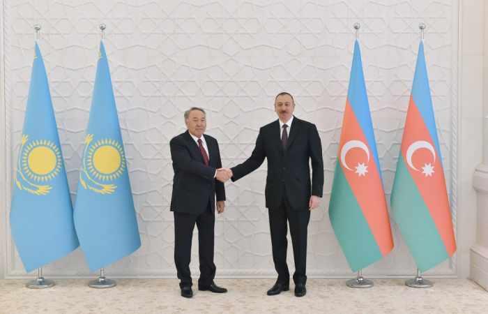 """""""Azərbaycanla münasibətlər heç vaxt pozulmayıb"""" - Nazarbayev"""