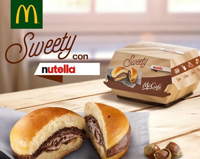 McDonald`s propose des burgers au Nutella