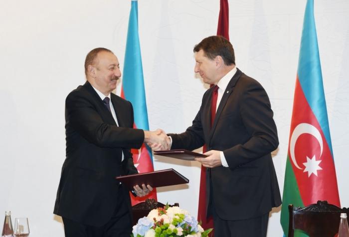 Azerbaijan, Latvia sign documents - PHOTOS