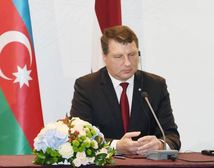 Präsident Raimonds Vējonis: Lettland unterstützt territoriale Integrität Aserbaidschans