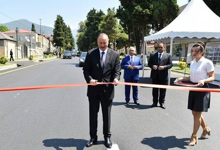İlham Əliyev Balakəndə səfərdədir - FOTOLAR (Yenilənib)