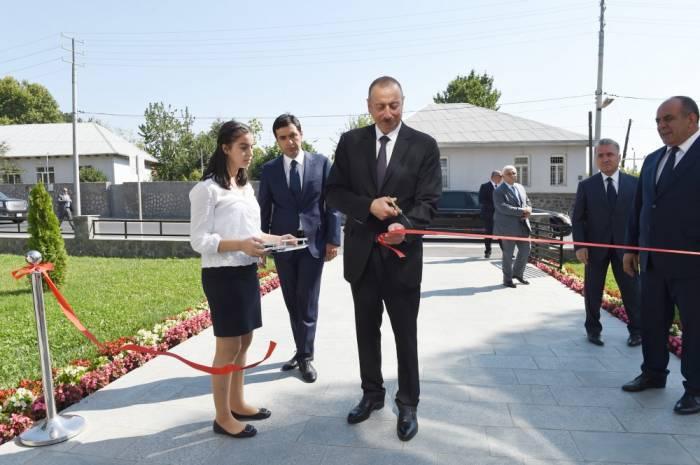 Prezident Qaxda açılışlar edib - Fotolar