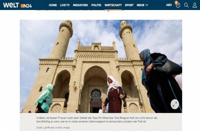 """Zeitung """"Die Welt"""" nennt Aserbaidschan Vorbild nach Beteiligung von Frauen am Wirtschaftsleben"""