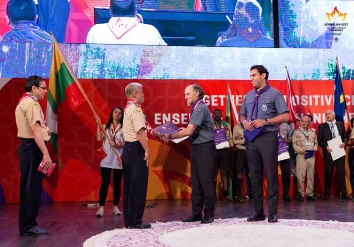 Conférence mondiale du scoutisme: des certificats remis aux nouveaux membres