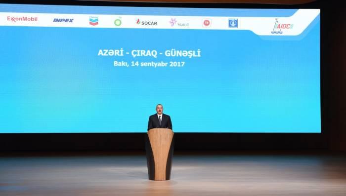 """""""Neftdən əldə edilən gəlirləri şəffaf şəkildə qoruyuruq"""" - Prezident"""