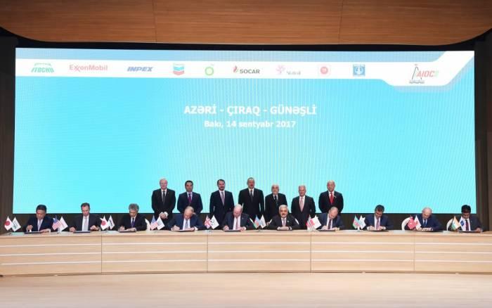 AÇG-nin 2050-ci ilədək işlənməsinə dair saziş imzalanıb - Fotolar (Yenilənib)