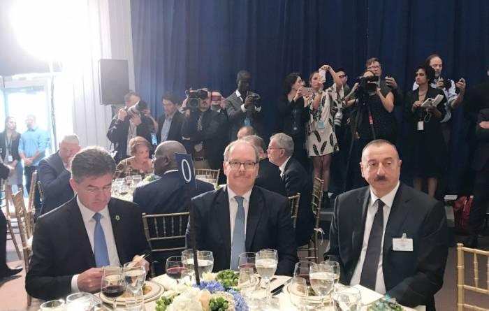 Le président azerbaïdjanais a assisté au dîner d'Etat officiel au siège de l'ONU