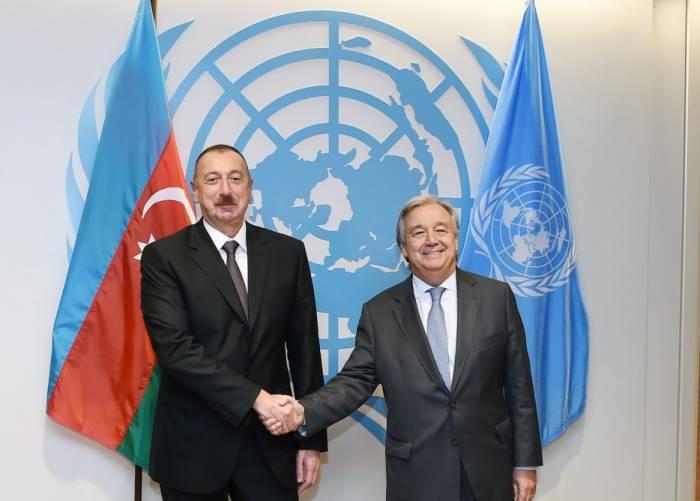 Ilham Aliyev rencontre le secrétaire général de l'ONU
