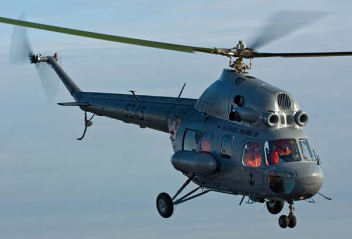 Mi-2 helicopter caught fire during crash landing in Kazakhstan, 3 injured