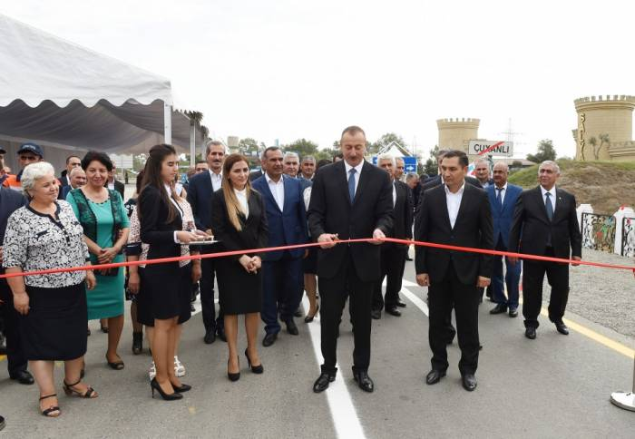 Prezident avtomobil yolunun açılışında