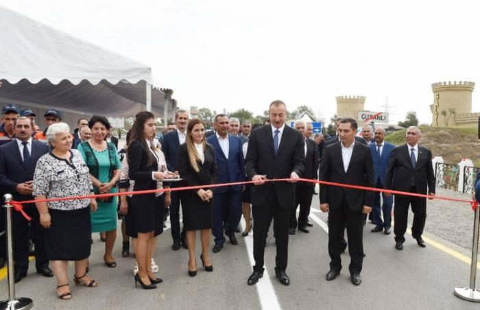 La route de la région de Salyan ouverte aux automobilistes